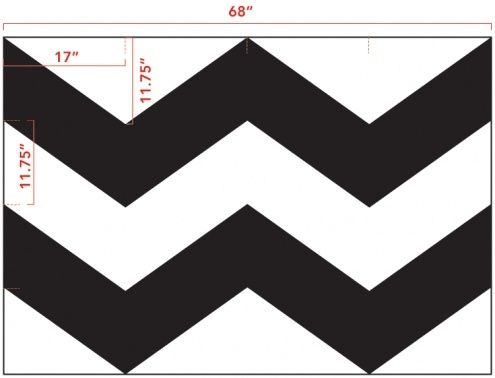 chevron template with measurements by elisa | Awesome DIY ...