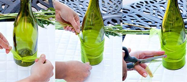 DIY   Fabulosos centros de mesa con botellas