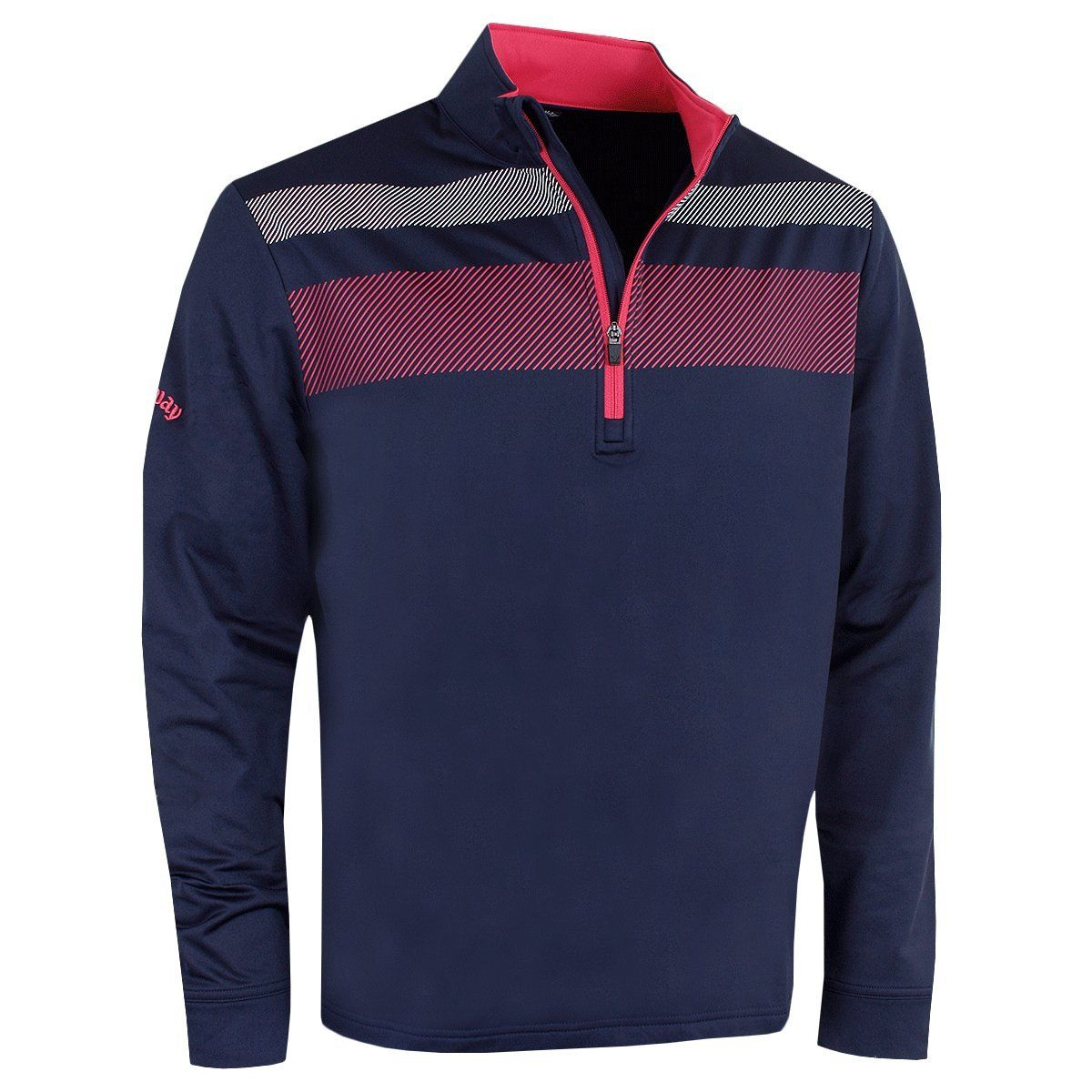 2e3391f5 Golf Clothing *** Callaway Golf 2018 Mens OptiDri ¼ Zip Blocked Stretch  Pullover Peacoat XXL -- Details can be located by clicking on the photo.