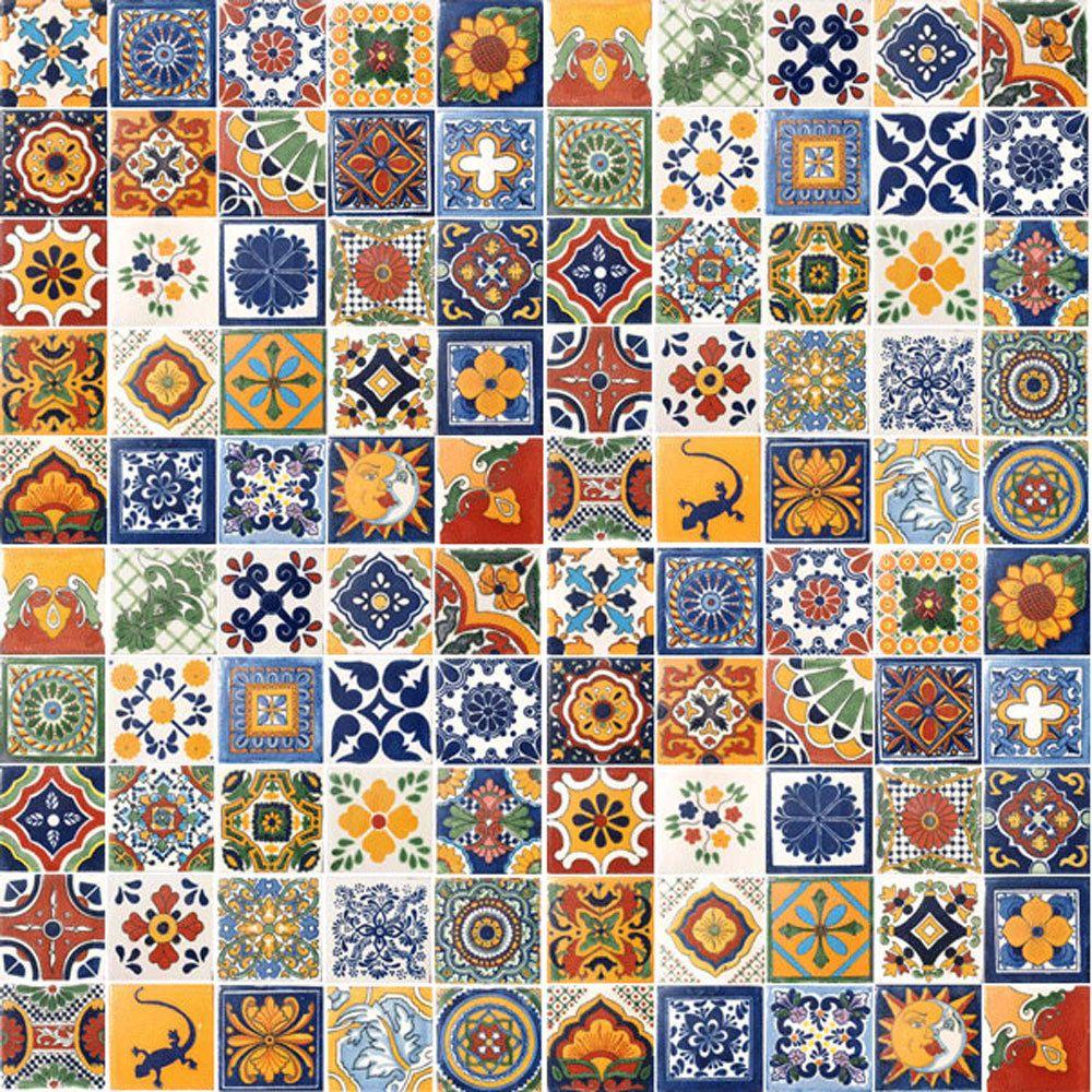 "SPECIAL 90 Mexican Tiles Ceramic Talavera Clay 4/""x4/"" Tile different designs"