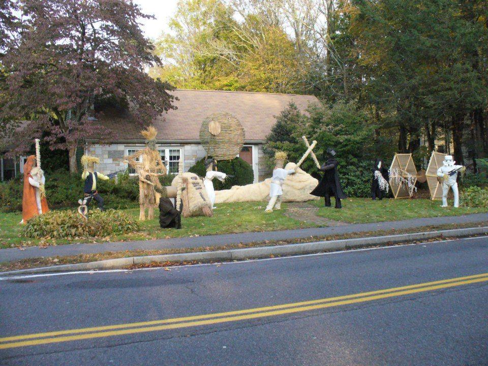 Star Wars Scarecrows Star Wars Halloween Decorations Star Wars Halloween Halloween Lawn