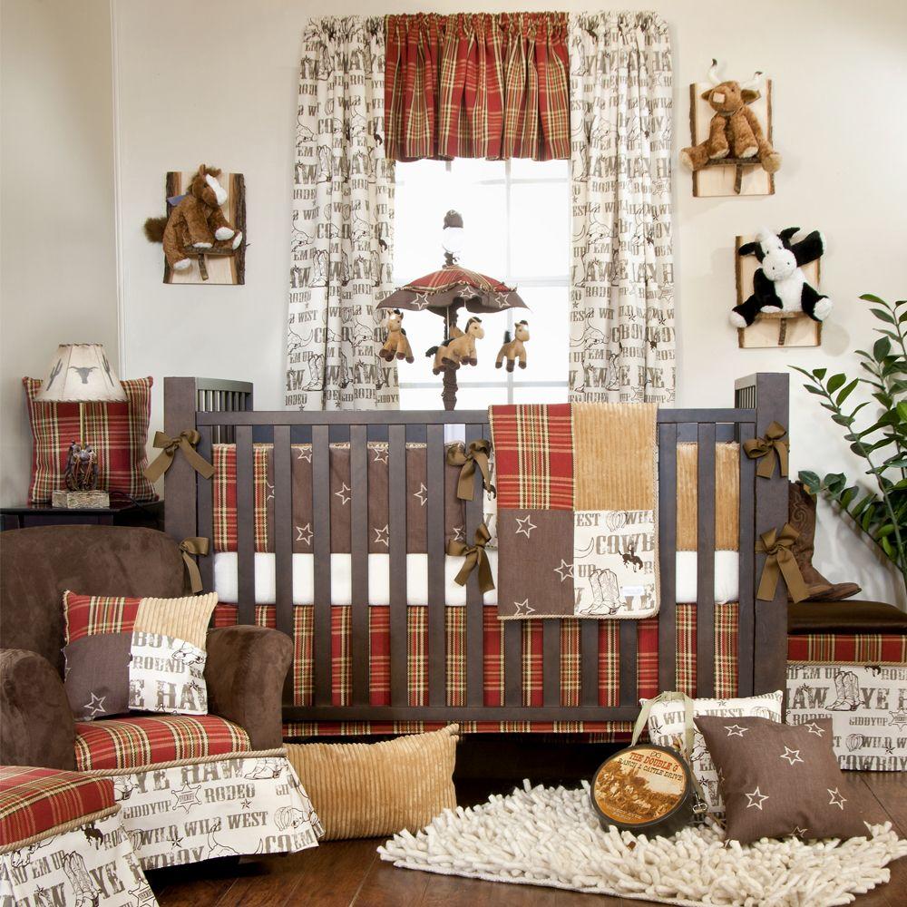 Details About Glenna Jean Baby Boy Cowboy Horse Western Crib Nursery Room  Bedding Quilt Set