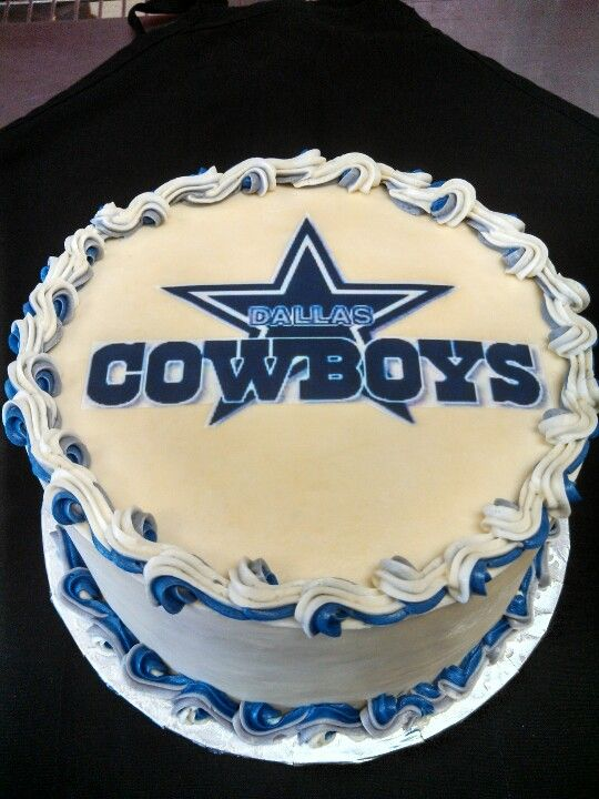 Marvelous Best Team Cake With Images Dallas Cowboys Cake Dallas Funny Birthday Cards Online Alyptdamsfinfo
