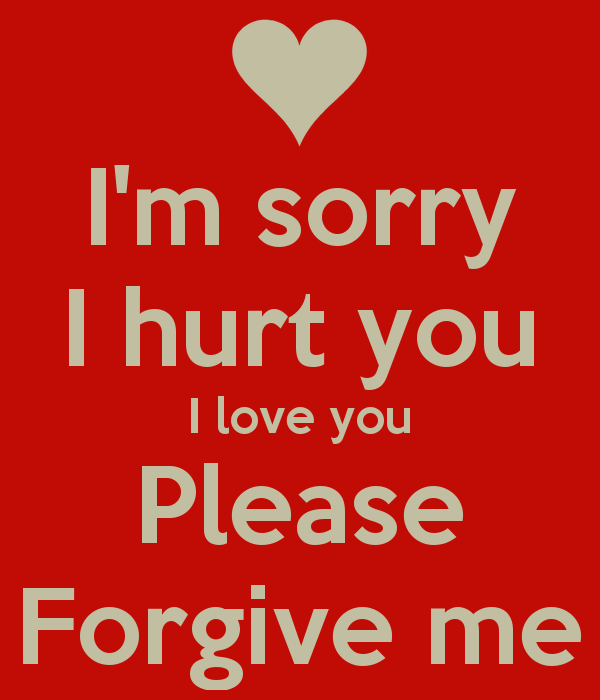 I Love You Forgive Me Sorry I Hurt You I Love You Please Forgive