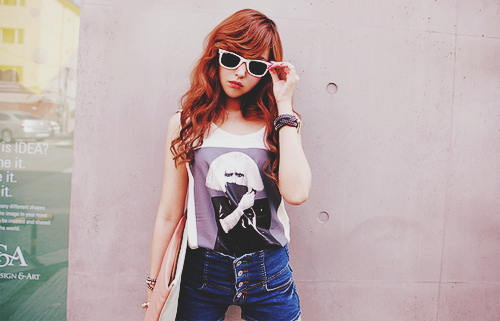red hair sunglasses