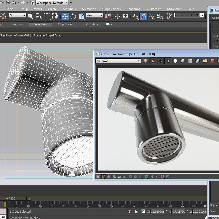 New 3D work in progress kitchen faucet teka preparing model for ...