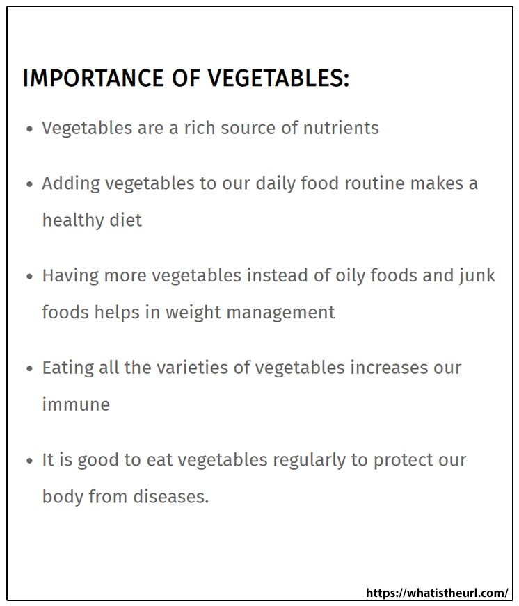Importance Of Vegetable Healthy Food Activitie Essay On Female Education