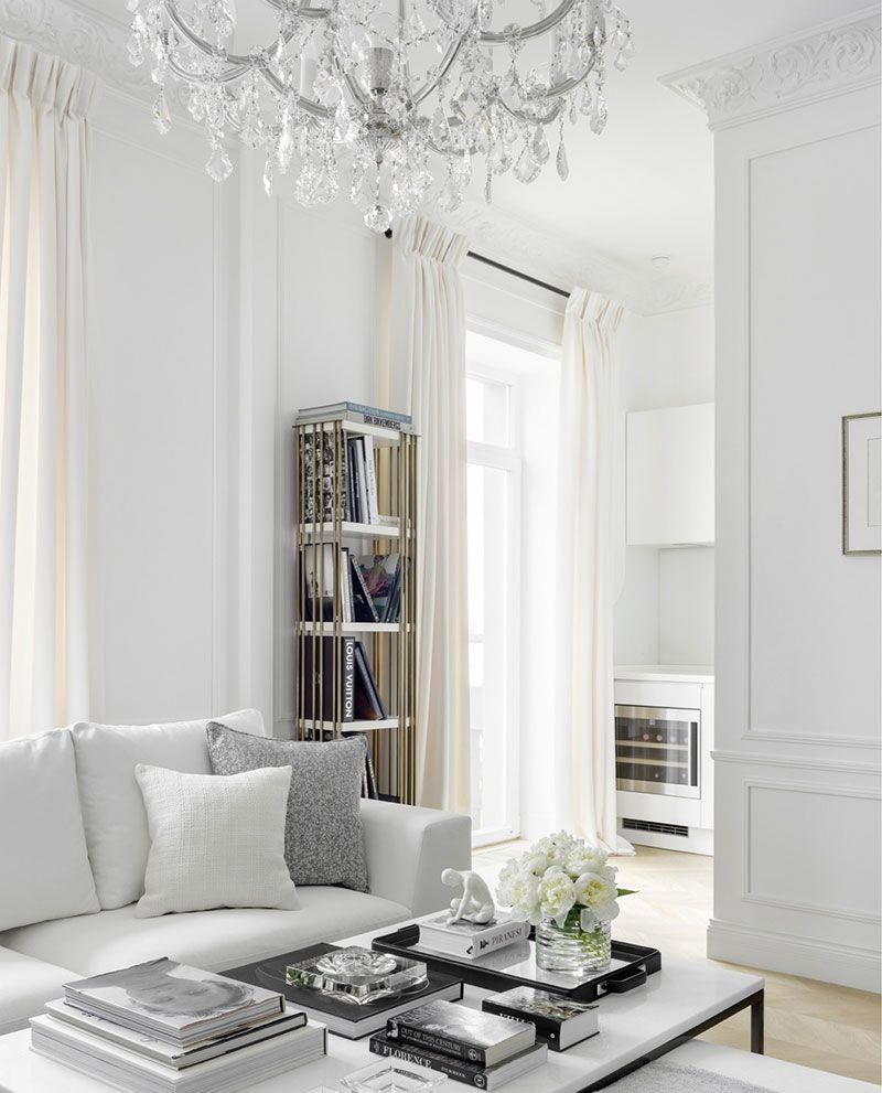 Celebrity Home White Apartment Of Elle Fashion Director In Moscow