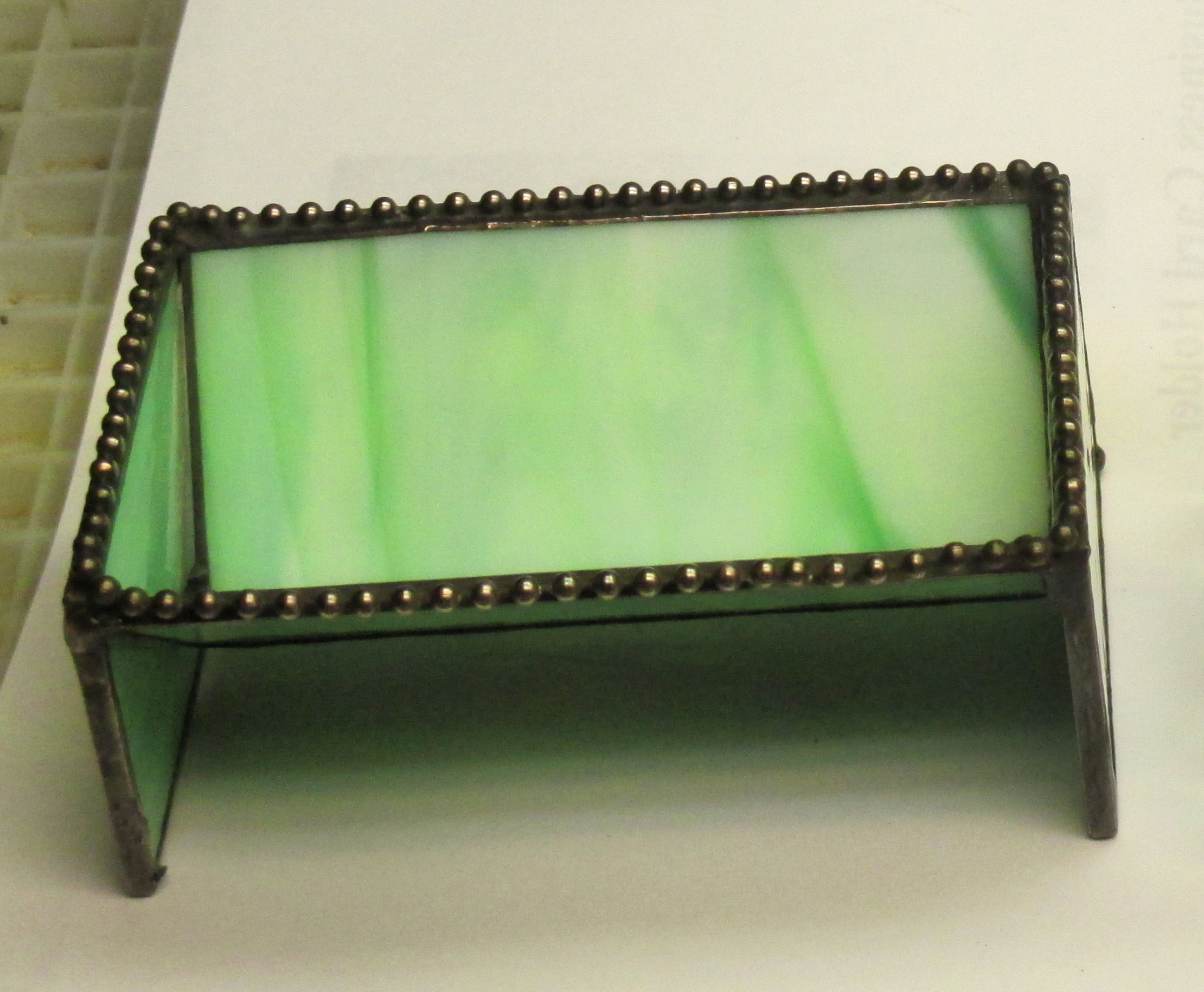 Stained Glass Green Business Card Holder | Glass Business card ...