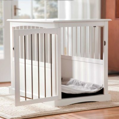 love this crate idea wonder if you could repurpose an old crib crafty goodness diy dog bed. Black Bedroom Furniture Sets. Home Design Ideas