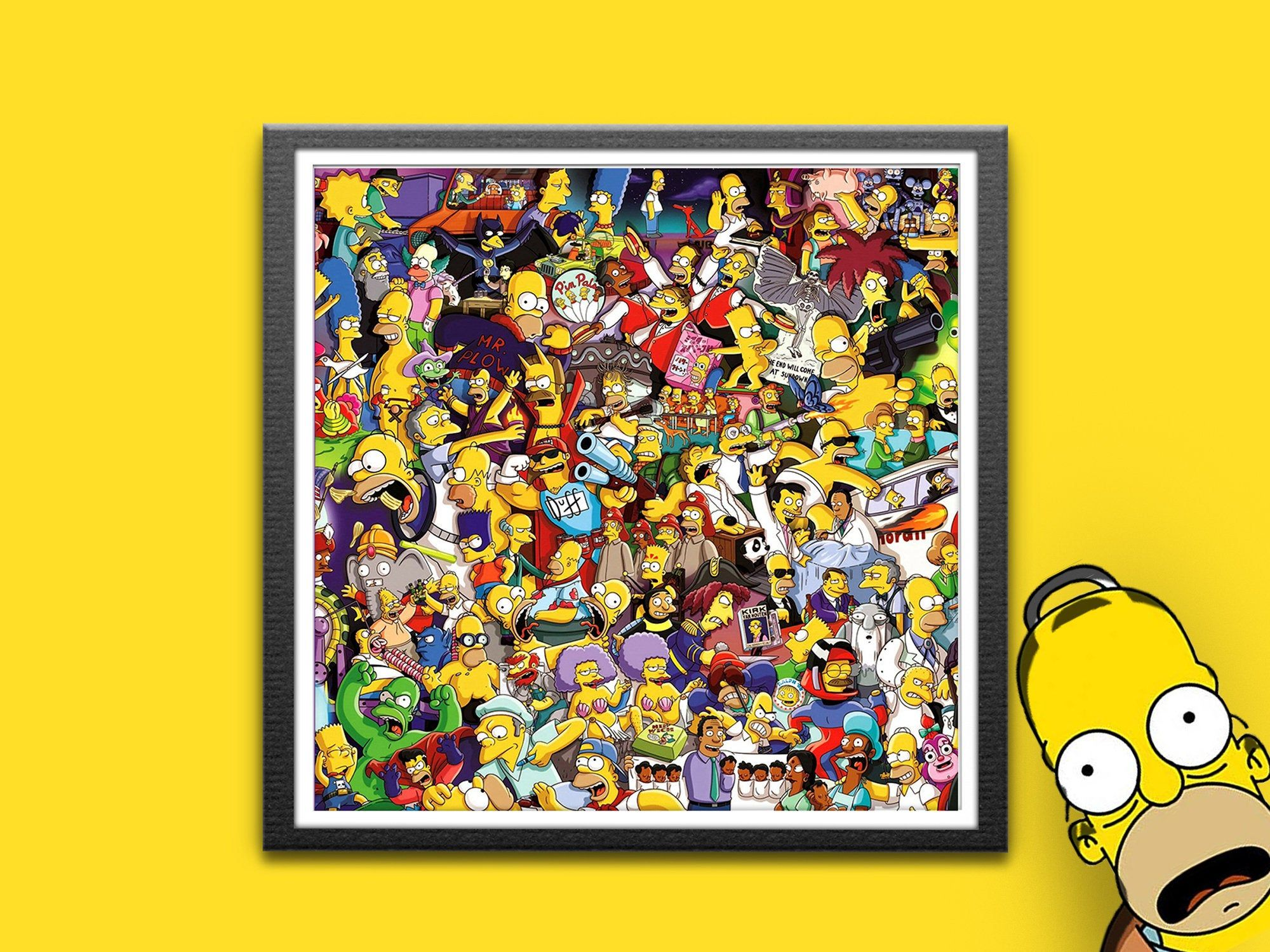 Homer Simpsons Art Homer Film Poster Simpsons Print Homer Simpson Simpsons Wall Art Bart Simpson Geek Gift D Oh In 2020 Simpsons Art Geek Poster Art
