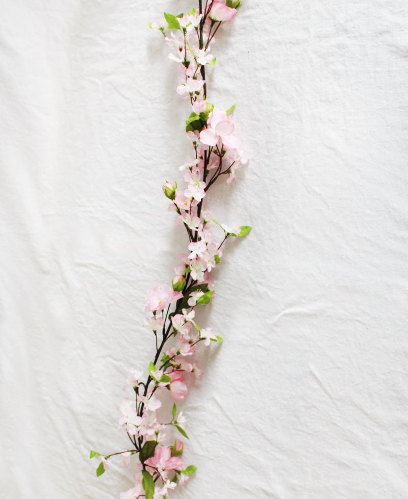 6 Cherry Blossom Garland In Two Tone Pink Fake Flowers Blossom Cherry Blossom Wedding