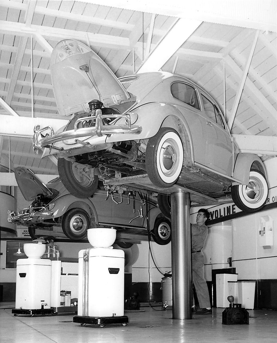 Beetle Service Bay At VW Dealership ♥ Loved And Pinned By