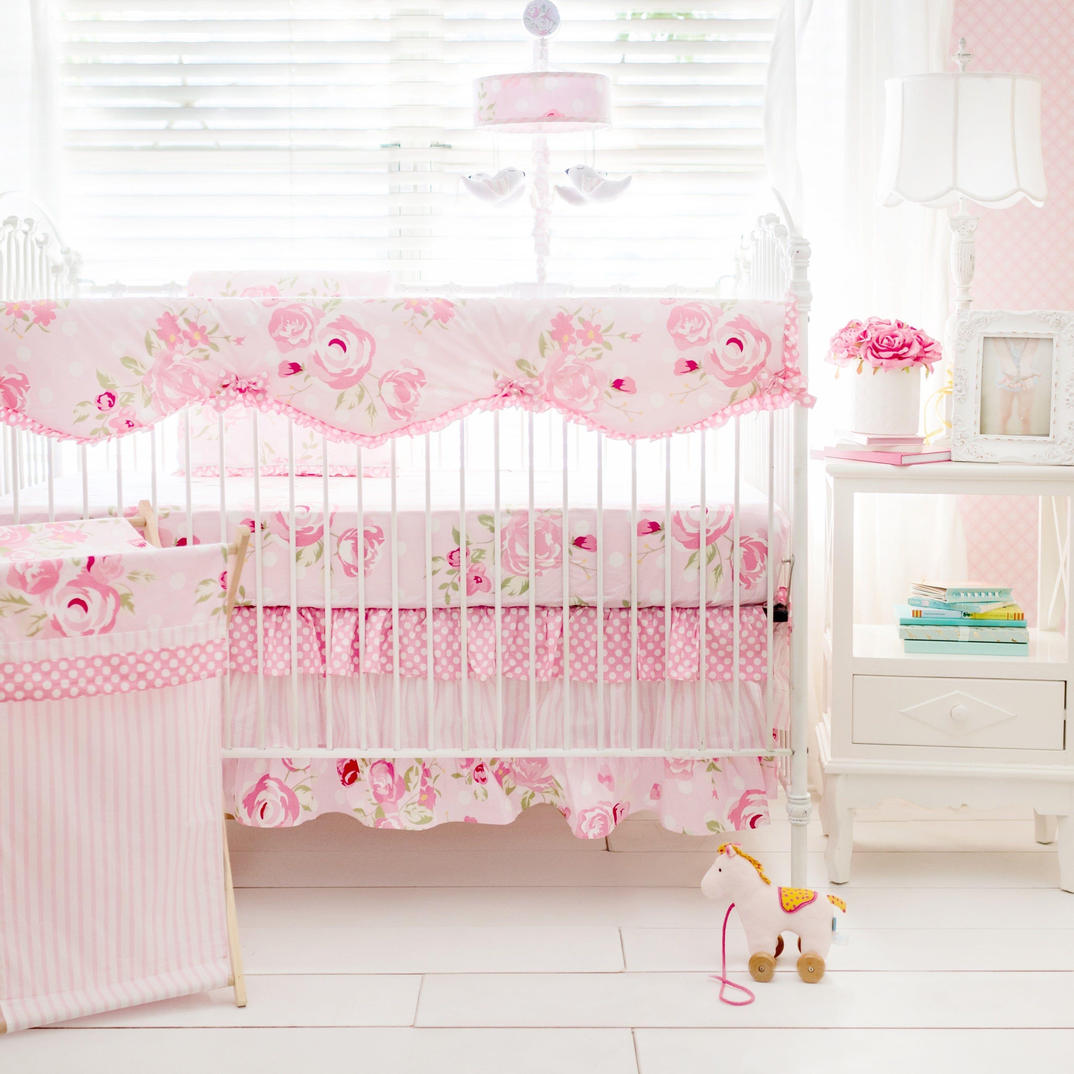 My Baby Sam Rosebud Lane Crib Rail Cover Pink crib