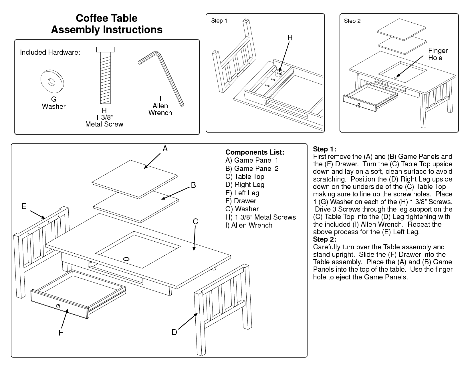 Hand tool woodworking magazines hemnes coffee table for Coffee table instructions