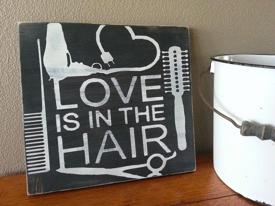 Hand Painted HAIRSTYLIST Hair Dresser by TheBeesKneesOhio on Etsy, $20.00