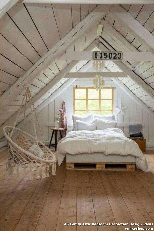 45 Comfy Attic Bedroom Decoration Design Ideas The Attic Is