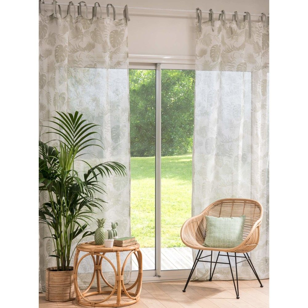 Textile Plantes Soft Furnishings Curtains Et Home Decor