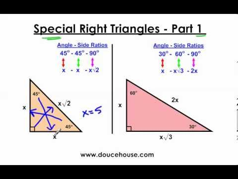 Day 1 Hw Special Right Triangles 45 45 90 30 60 90 Youtube