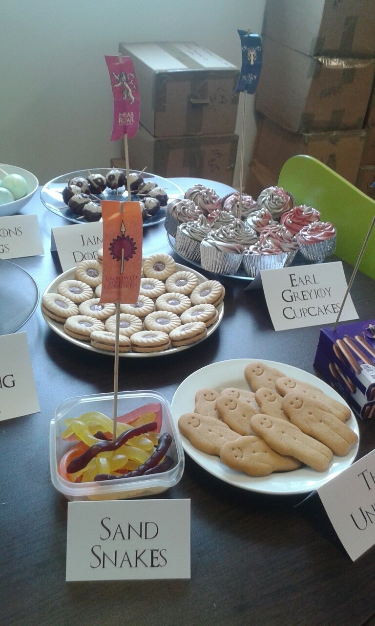 Game Of Thrones Party Food Ideas Game Of Thrones Game Of Thrones