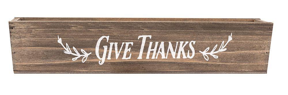 Thanks Living Give Thanks Wood Votive