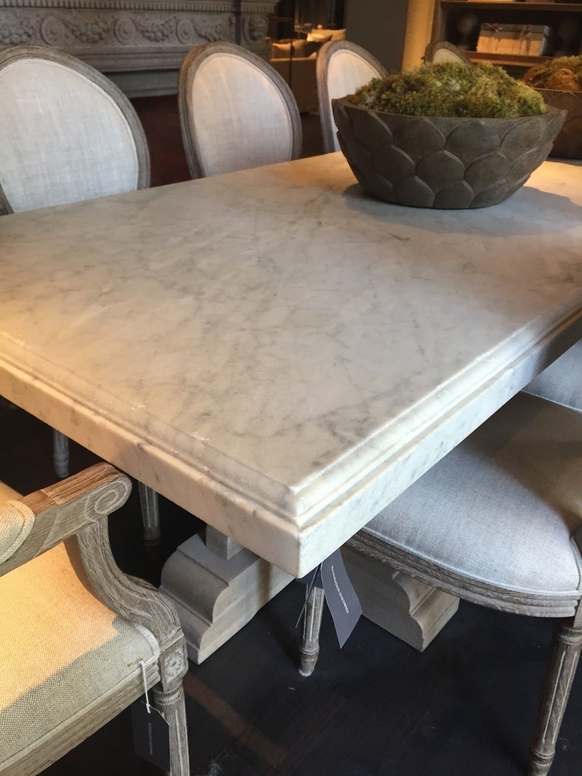 What A Treat For The Eyes It Is So Refreshing To See A Retailer Take Ri Dining Table Marble Restoration Hardware Dining Room Restoration Hardware Dining Table