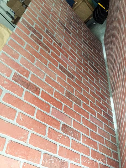 Home Depot Faux Red Brick Panels