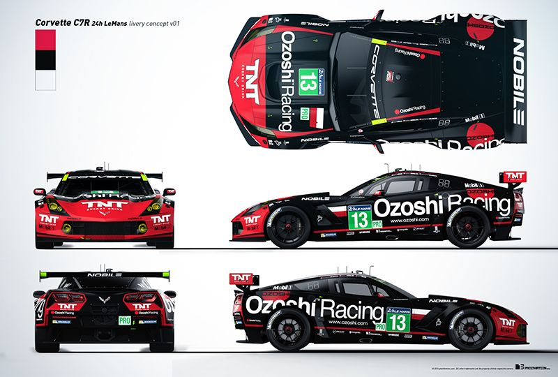 Corvette C7R Livery Presentation on Behance | Race Car Paint