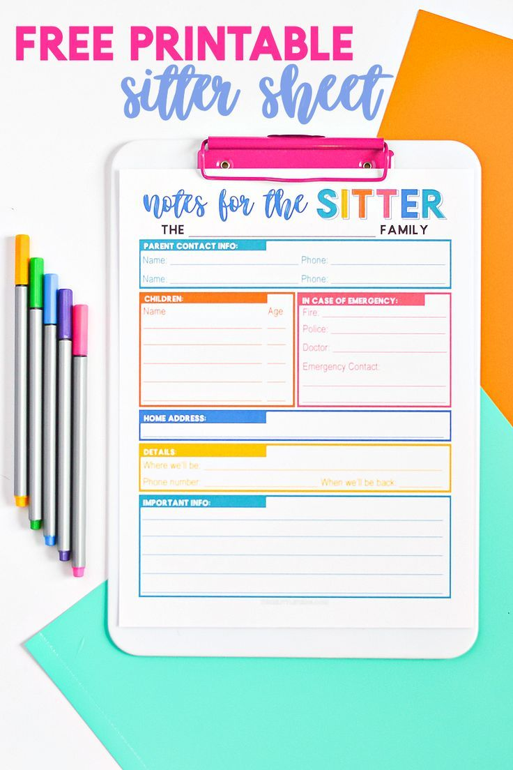 Help prepare your sitter to take great care of your