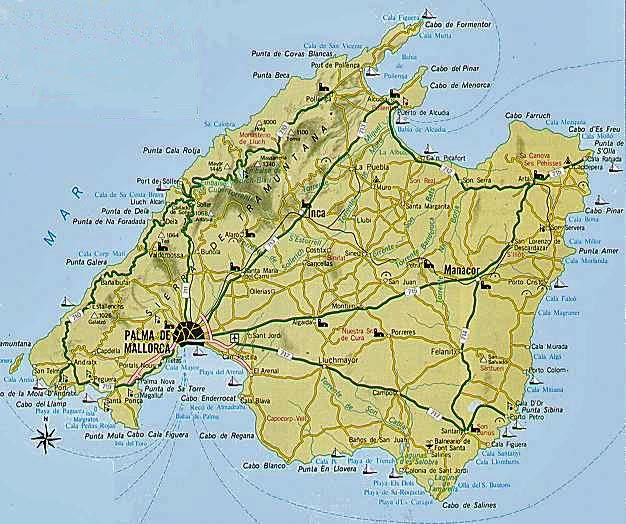 mallorca map CARTES EUROPE OU PAYS EUROPE Pinterest