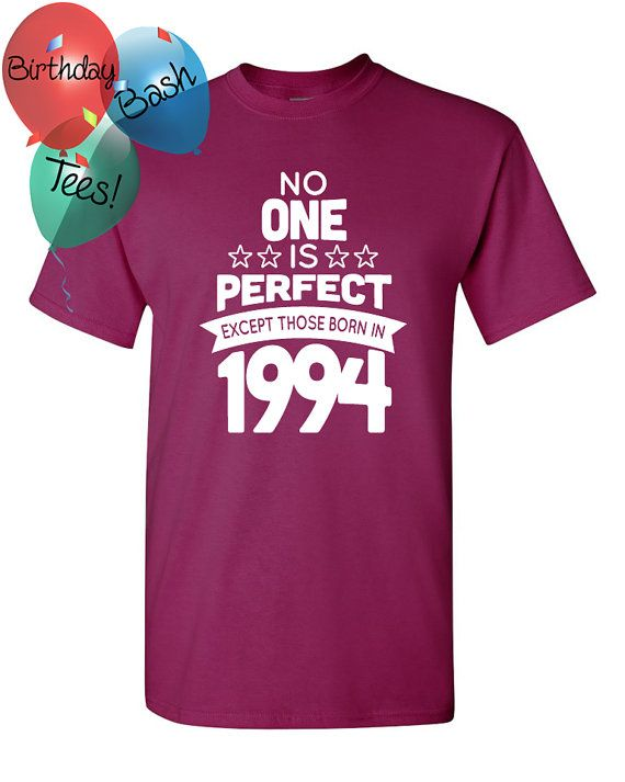 22 Year Old Birthday Shirt No One Is Perfect By BirthdayBashTees