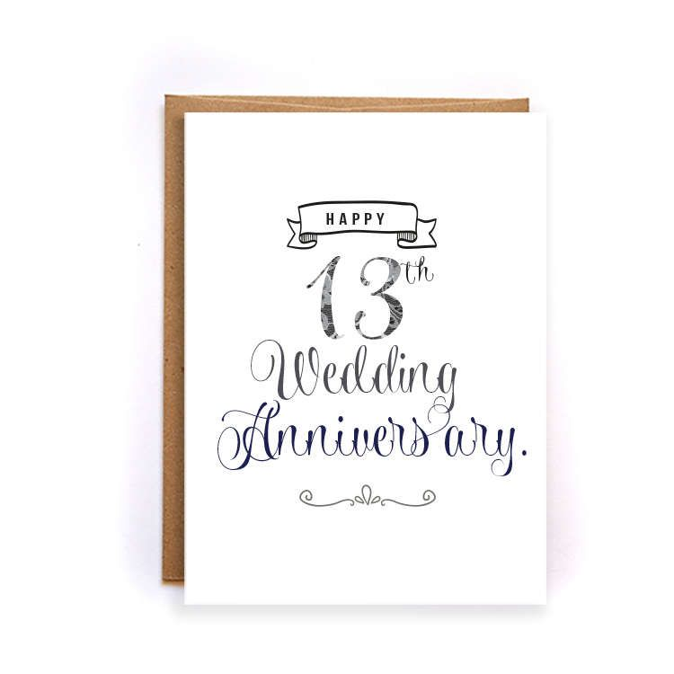 13th Anniversary Card Lace Anniversary Card For Him Cute Handmade Greeting Cards Fo Anniversary Cards For Him Happy 13th Anniversary 13th Wedding Anniversary