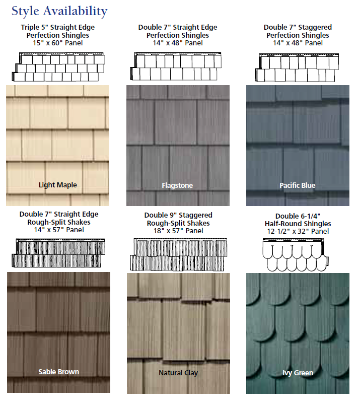 Best Come See Our Vinyl Shake Siding It Looks Just Like Cedar 400 x 300
