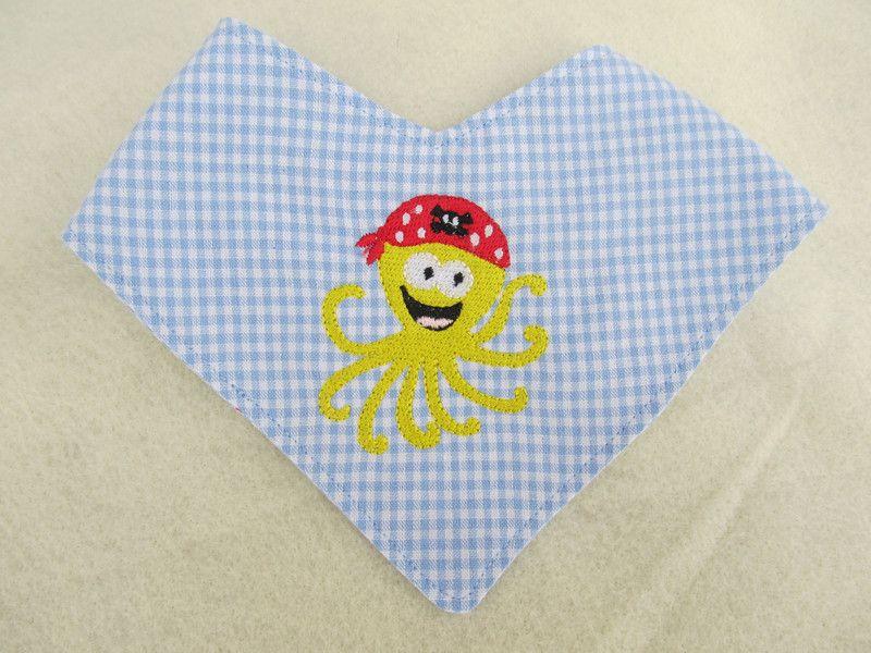 Halstücher - Baby Halstuch Krake - ein Designerstück von Stick-und-Naeh-Design bei DaWanda