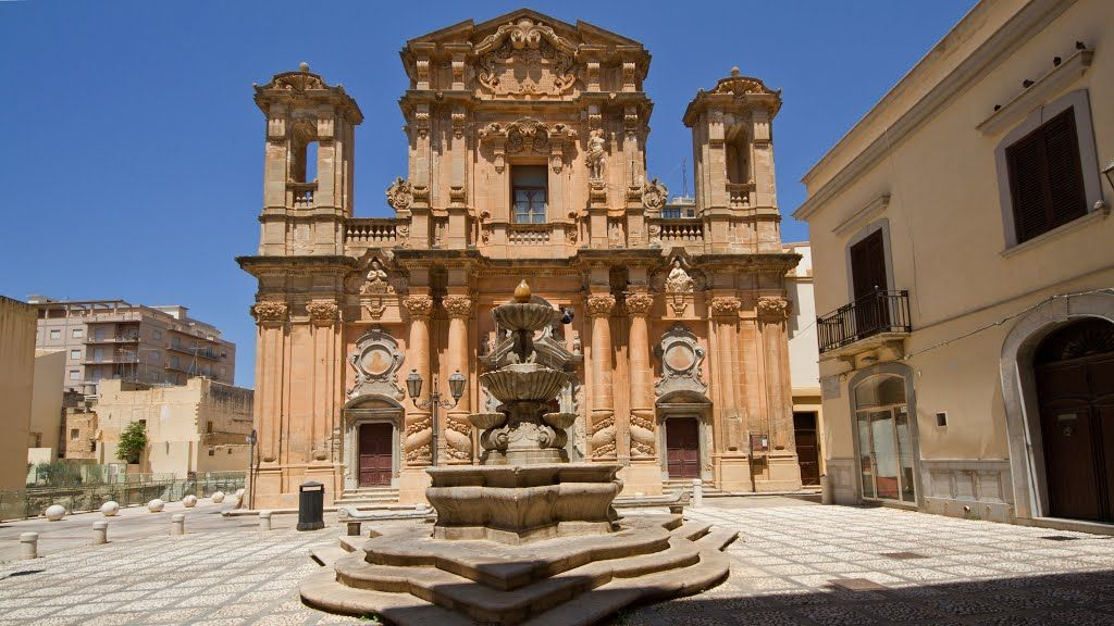 The church of purgatory of Marsala, at Trapani, Sicily