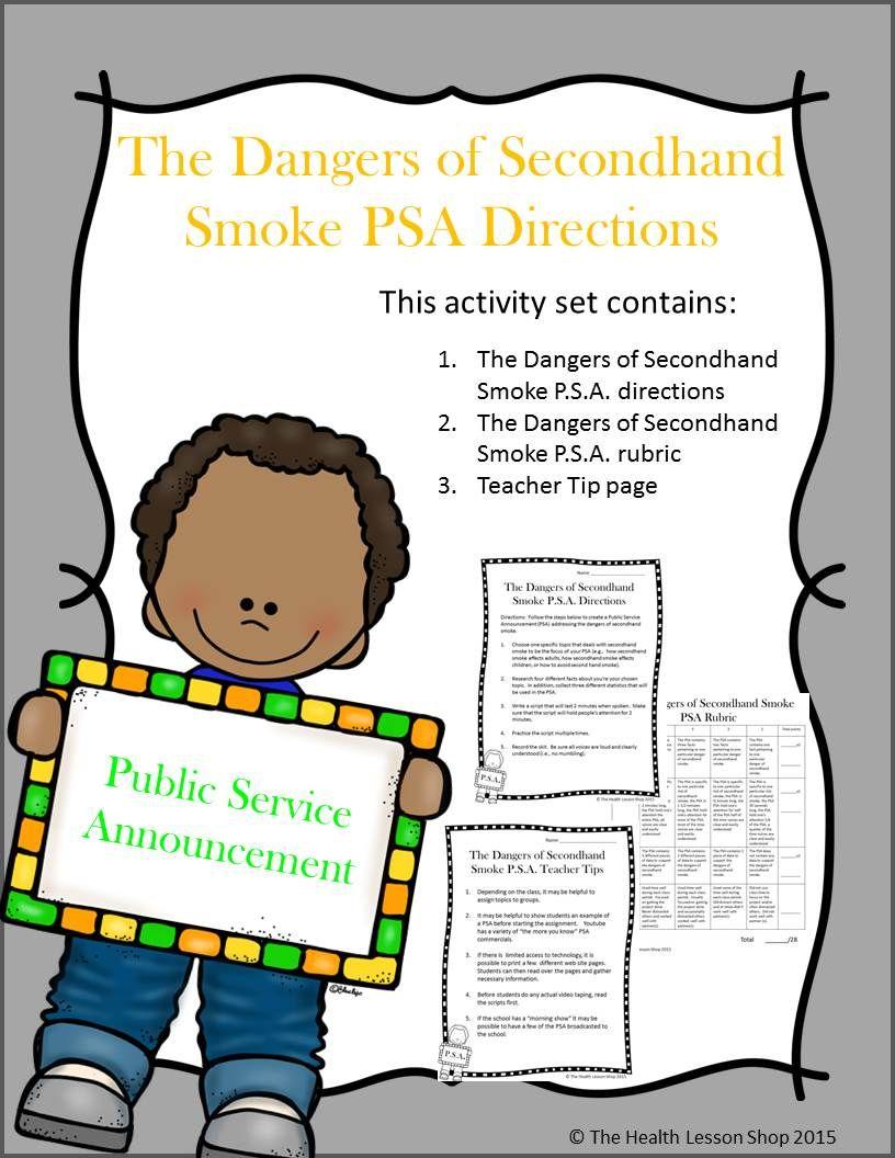 Secondhand smoke public service announcement activity public literacy fandeluxe Choice Image