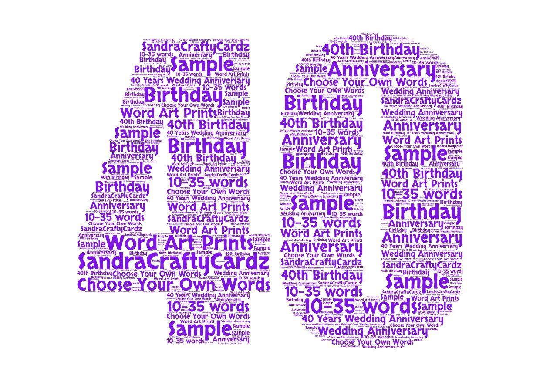 40 40th birthday anniversary printable file dad best
