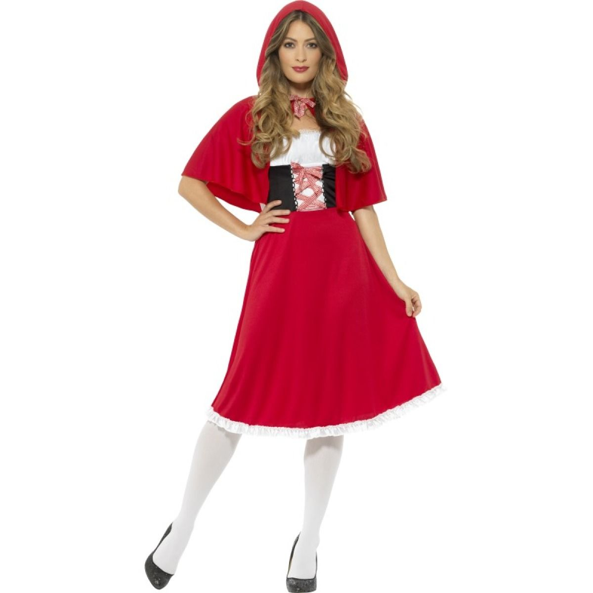 Ladies fairytale red riding hood fancy dress costume 44686 purim transform yourself into red riding hood with this gorgeous classic fairytale red riding hood costume which includes longer length dress and cape buy here solutioingenieria Image collections
