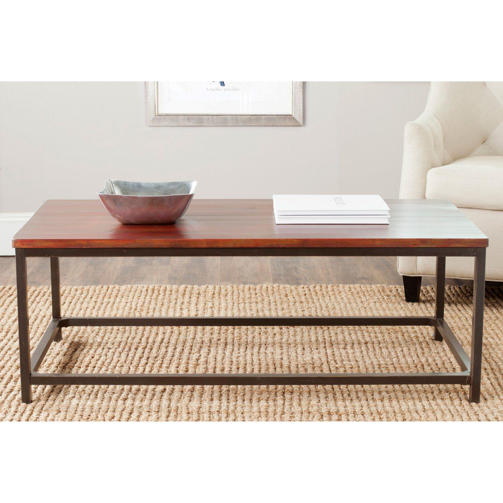 Safavieh Alec Coffee Table Distressed Maroon In 2019 Furniture Black Coffee Tables Barnwood Coffee Table