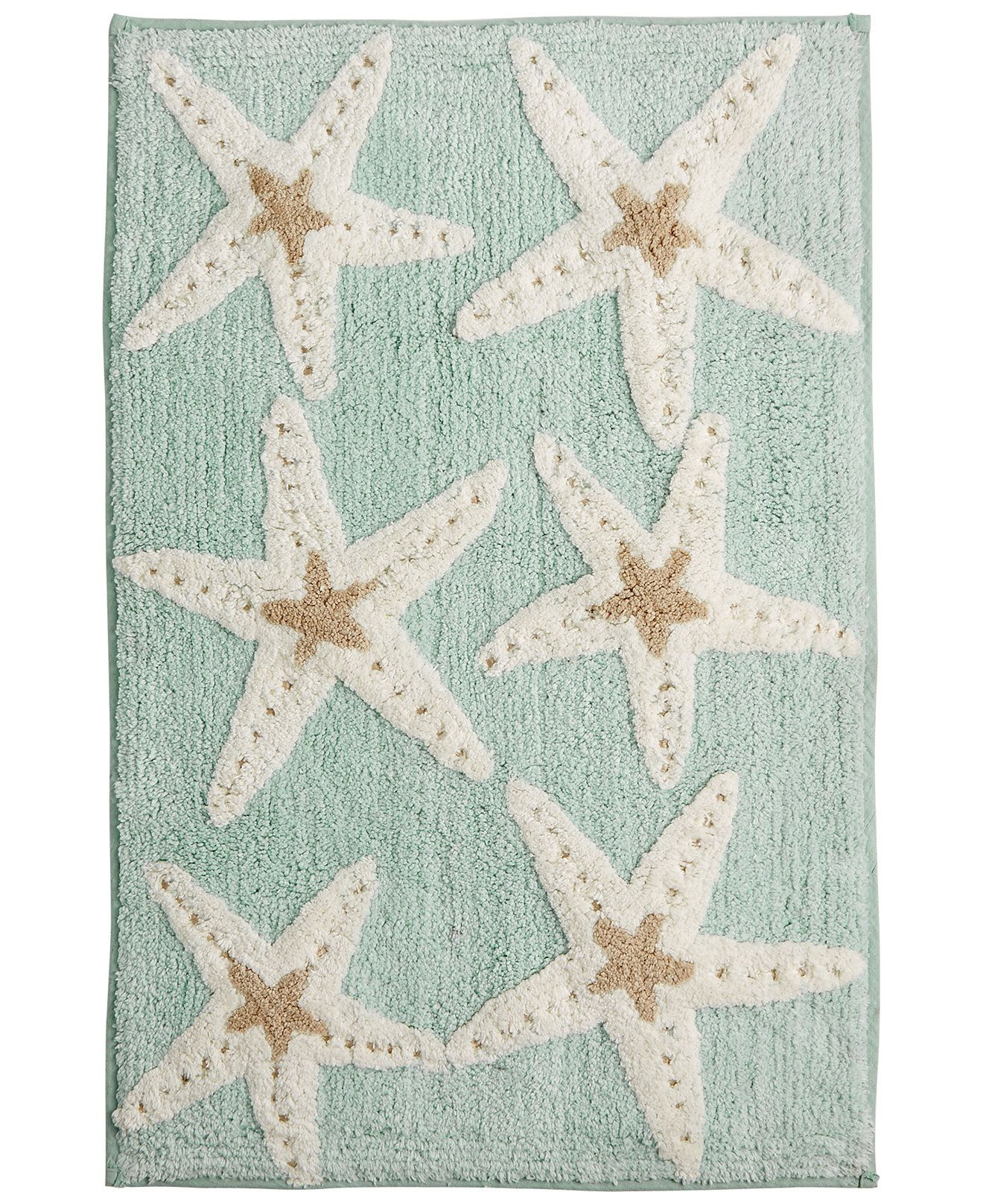Aqua bathroom rugs - Avanti Bath Sequin Shells 20 X 30 Bath Rug