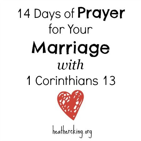 14 Days of Prayer for Your Marriage with 1 Corinthians 13