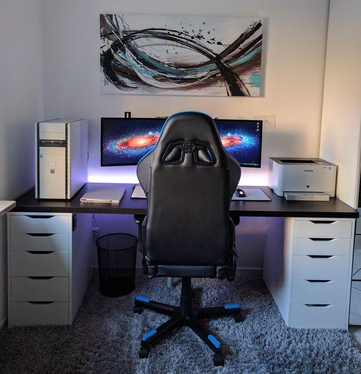 university battlestation december 2016 upgrade gaming desk ideas gaming setup. Black Bedroom Furniture Sets. Home Design Ideas