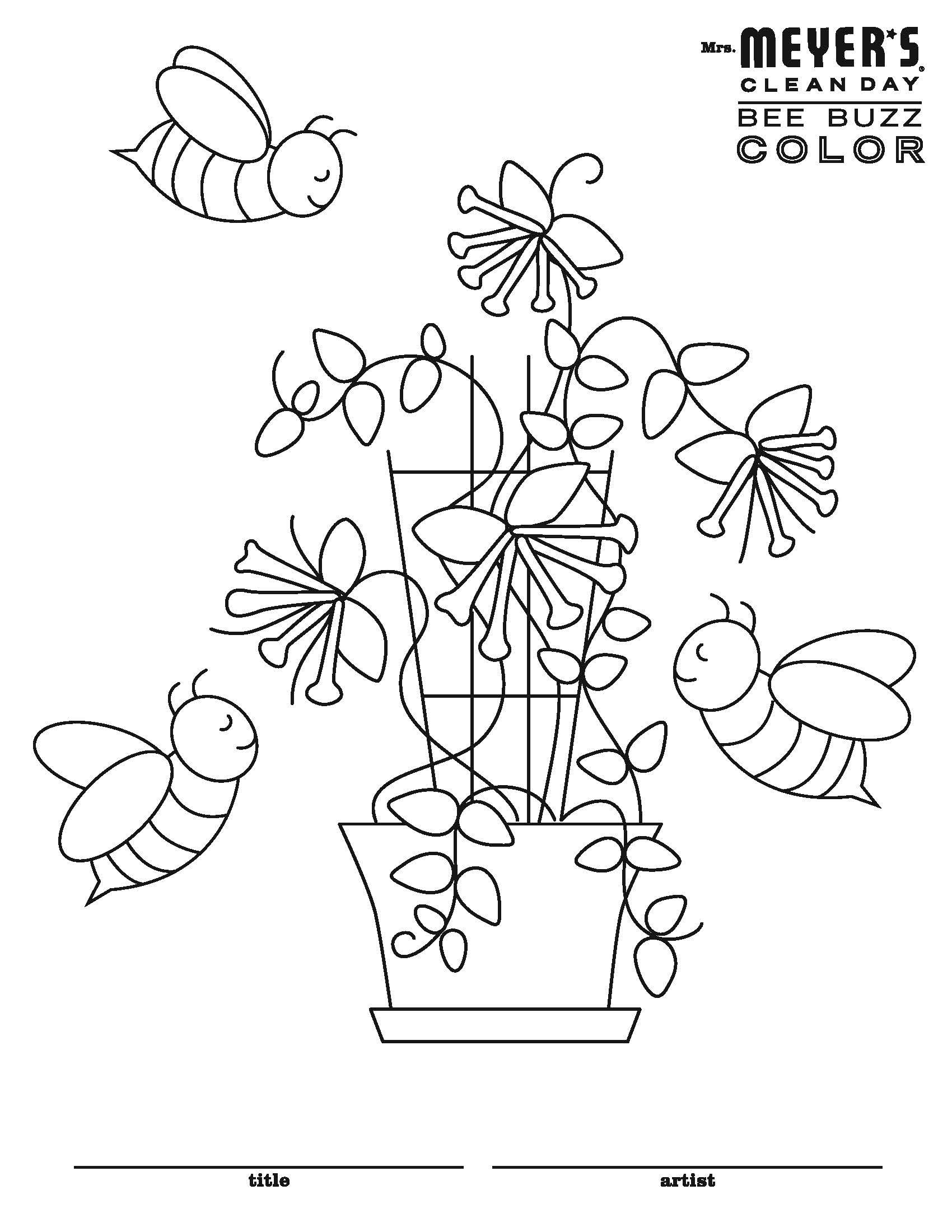 Bee Buzz Coloring Sheet Other Sheets To Choose From Too