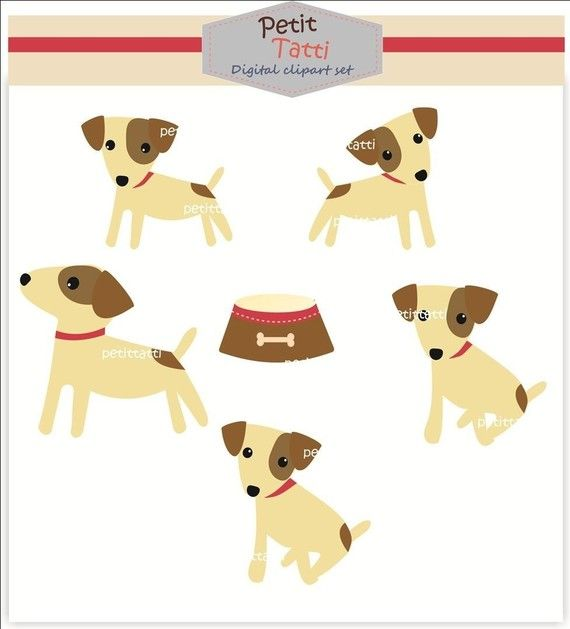 Digital clip art for all use Jack Russell 2 5401 by petittatti, $3.95