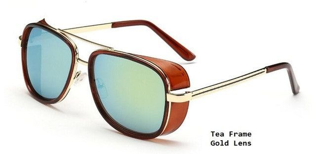 cbf5256e53 Tony Stark Iron Man Sunglasses Men Luxury Brand Eyewear Mirror Punk Sun  Glasses Vintage Male Sunglasses Steampunk Oculos Eyewear Type  Sunglasses  Item Type  ...