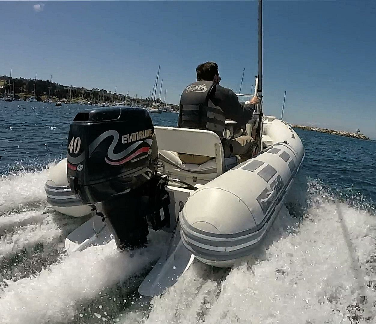 High Performance Trim Tabs for Inflatable Boat (Roll-up or RIB).