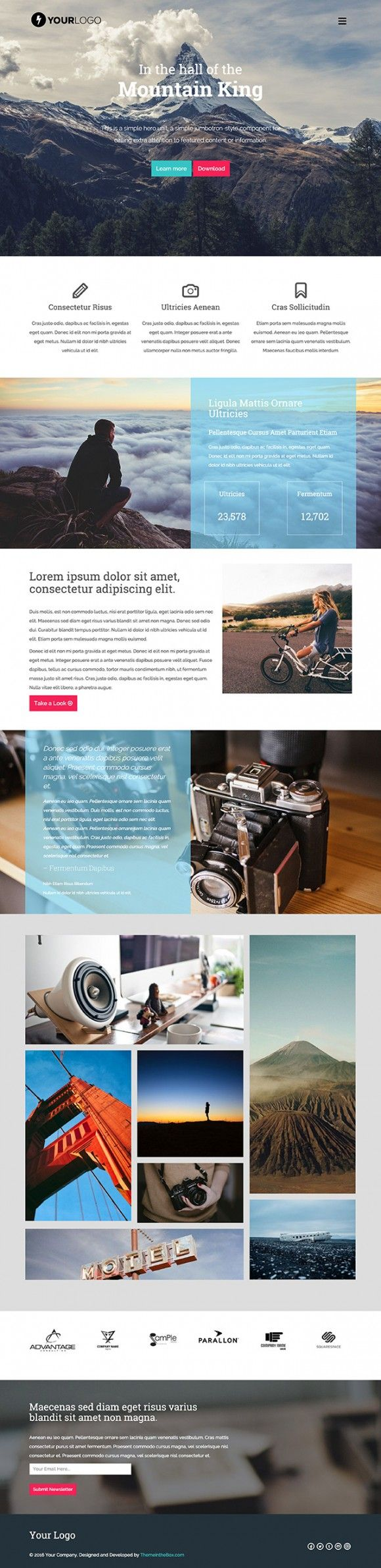 Mountain King Html Bootstrap Template Freebiesbug Simple Web Design Web Template Design Bootstrap Template