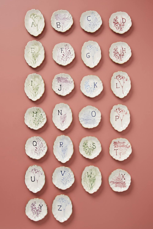 Botanical Monogram Trinket Dish (With images) Trinket