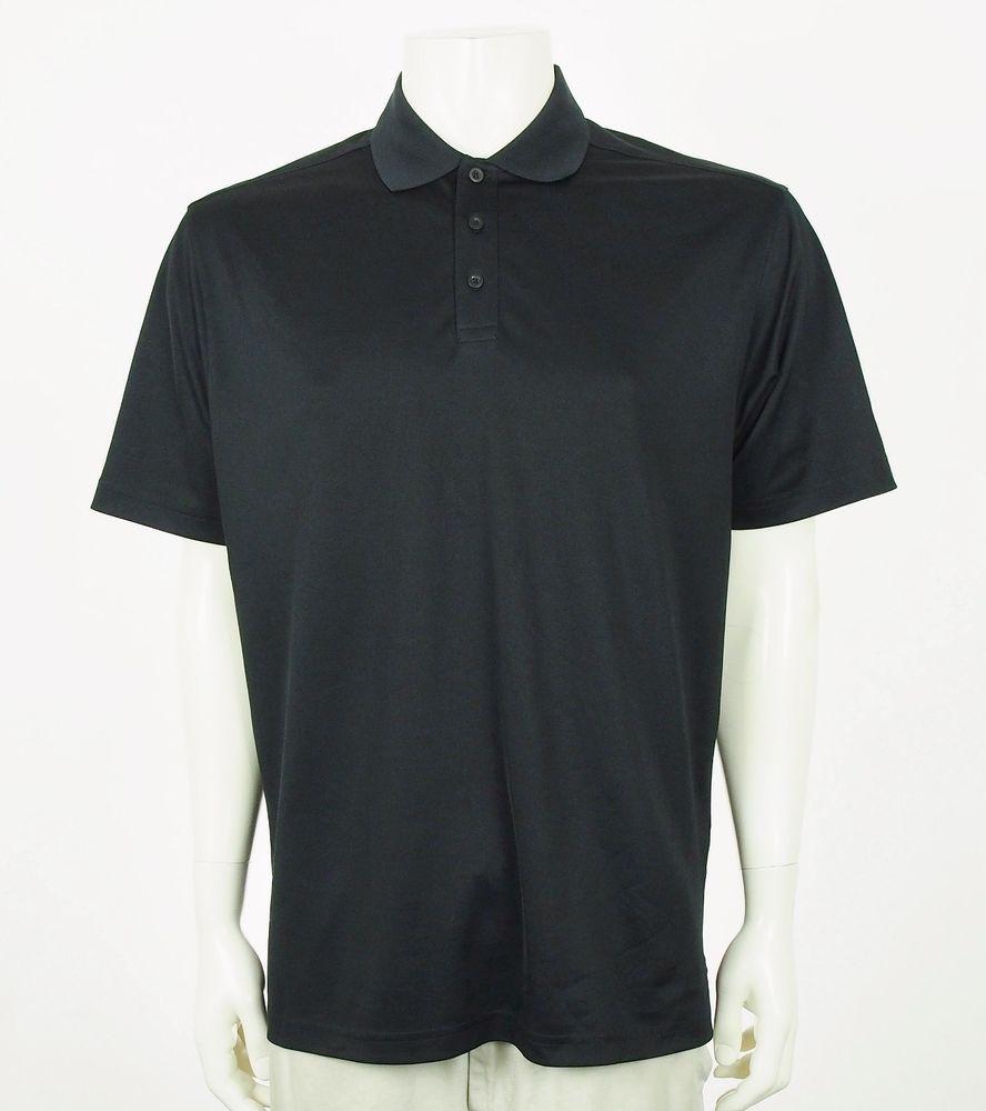 Under Armour Ua Heatgear Loose Fit Black Golf Polo Shirt Mens Lt