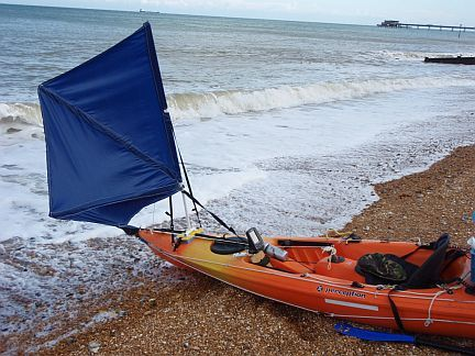 Diy Kayak Sail How Awesome Kayaking Kayak Boats Kayaking Gear